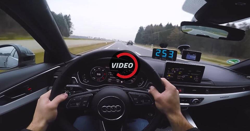 Audi A4 V6 diesel en una Autobahn alemana