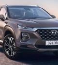 Superficies de Hyundai Santa Fe de cuarta generación en Corea con Kona Looks